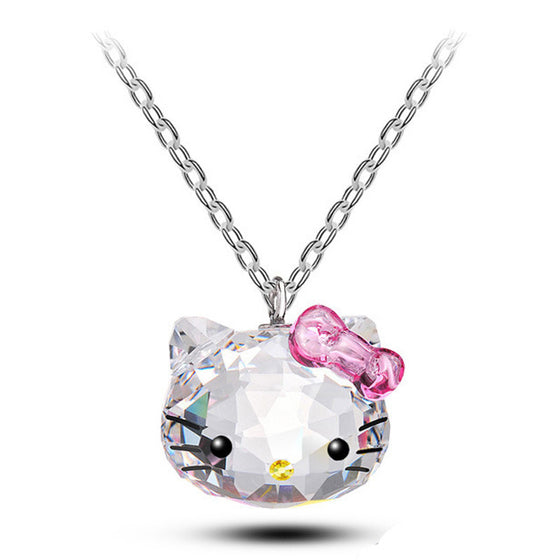 Newly designed Stainless Steel Hello Kitty Cat Necklaces