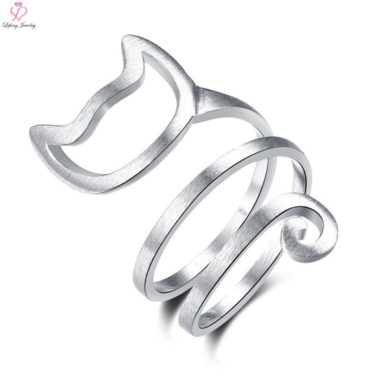 High Quality Silver Plated Lovely Cat Ring