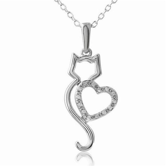 European Style Cat Lover Pendant Necklace