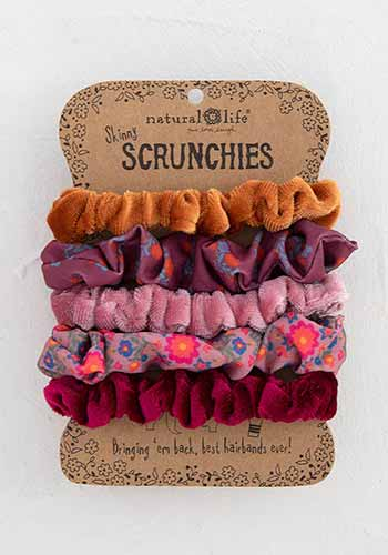 Skinny Scrunchies | Orange Multi - The Boutique LLC