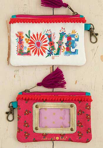 LOVE Folk Art | ID Pouch - The Boutique LLC