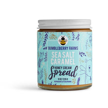Load image into Gallery viewer, Sea Salt Caramel Honey Cream Spread | 8oz