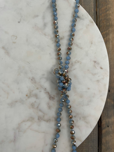 Classic Beaded Necklace | Ash Blue - The Boutique LLC