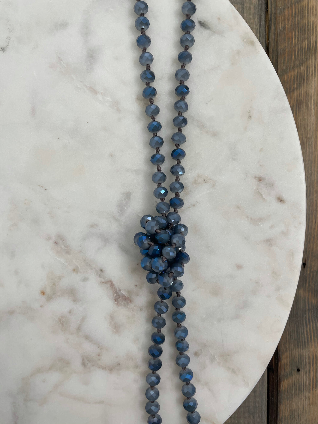 Classic Beaded Necklace | Smokey Blue - The Boutique LLC