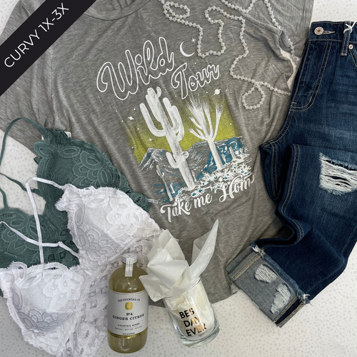 Wild Tour: Take Me Home | Curvy Graphic Tee - The Boutique LLC