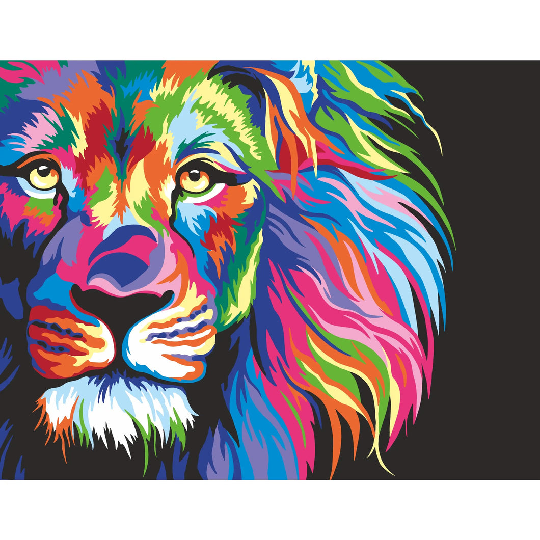 PREORDER: Neon Lion | DIY Paint By Numbers Kit - The Boutique LLC