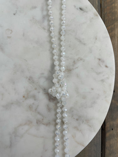 Classic Beaded Necklace | White - The Boutique LLC