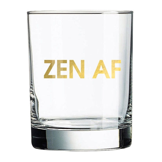 Zen AF | Rocks Glass - The Boutique LLC
