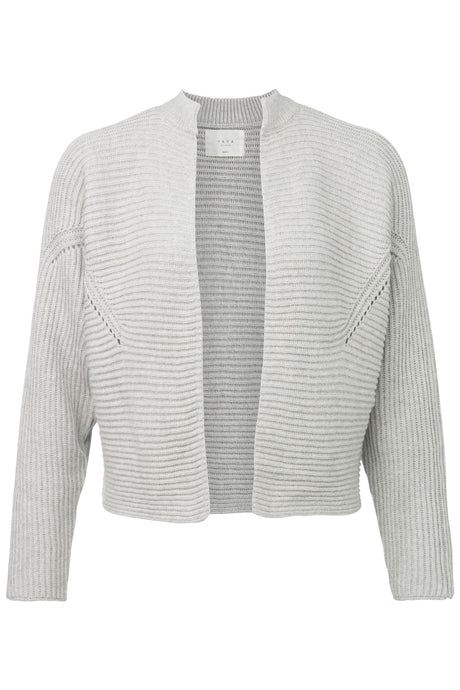 Short ribbed open cardigan