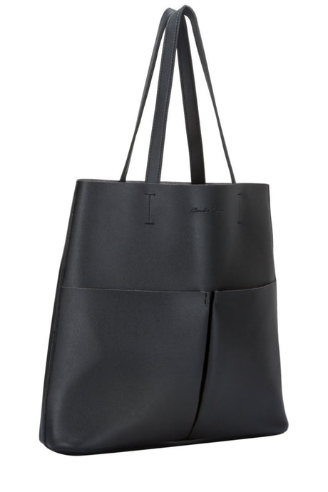 Twin strap twin pocketed tote jobbveske