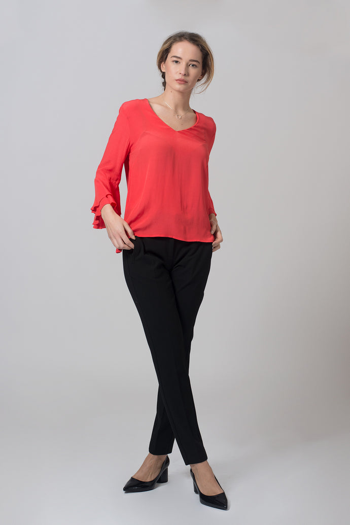 temporary red blouse jobb forynde