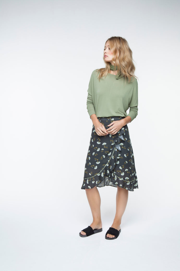 Ruffle skirt small flowerprint YAYA