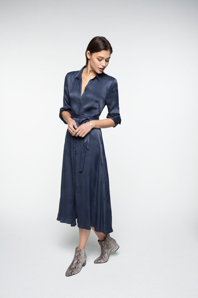 Long shirt dress with belt YAYA