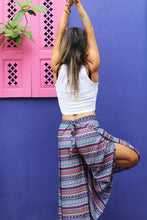 multi colored boho chic wrap pants for women