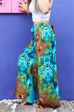Jungle Peacock Guru Wrap Pants