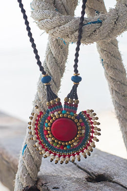 Boho chic handmade necklace