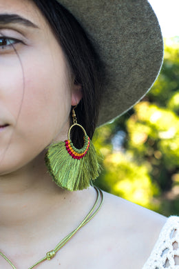Boho chic fan earrings for women