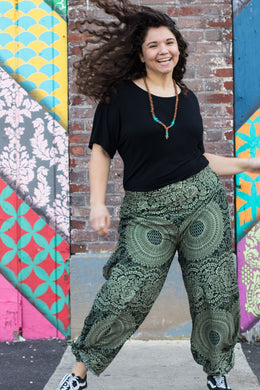 Jungle Leopard Guru Wrap Pants