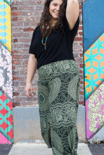 Boho chic wrap pants for women with geometric designs