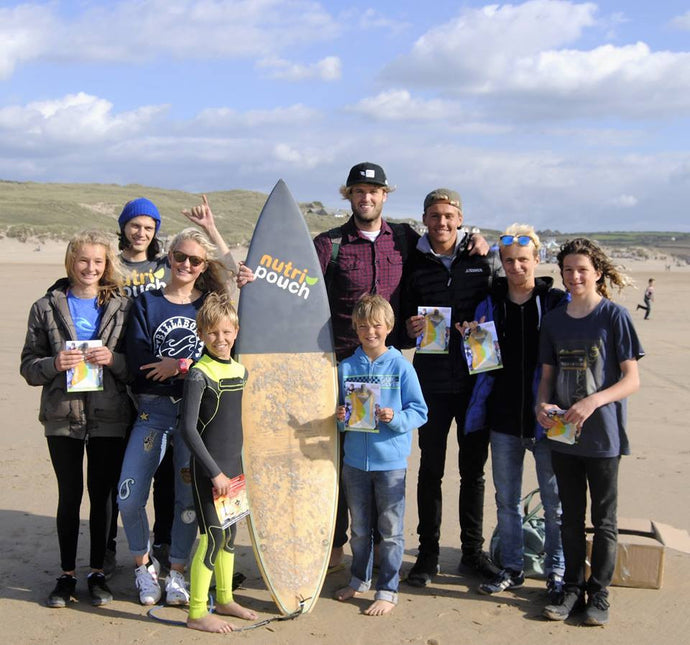 NUTRIPOUCH GIVEAWAY AT THE GB SURFING CHAMPIONSHIPS