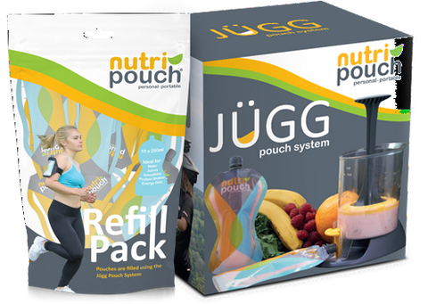 Deluxe Pack - Nutripouch Drinks Pouch System, Recipe book,                                         15x250ml Re-usable Pouches,
