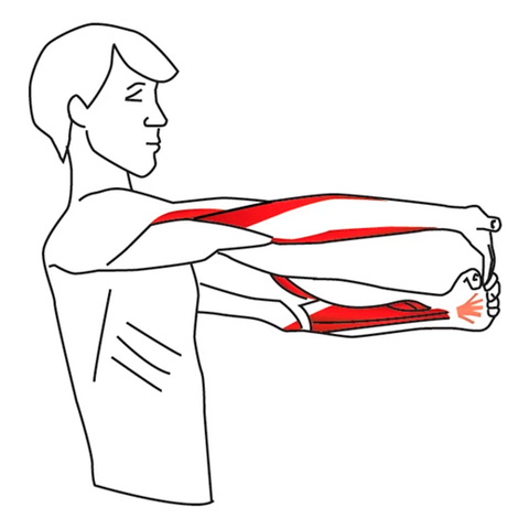 inner arm stretch