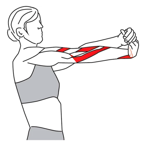 Wrist rotation stretch