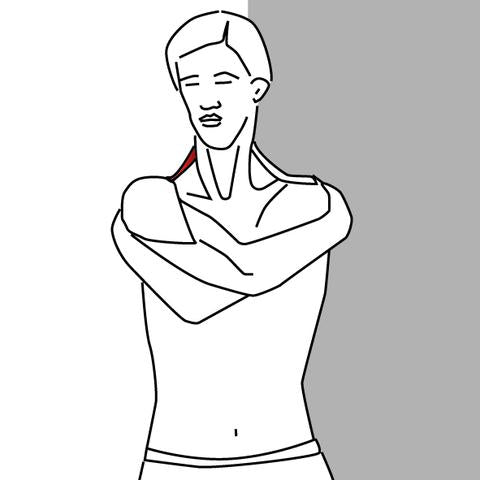 diagram of stretch for latissimus dorsi