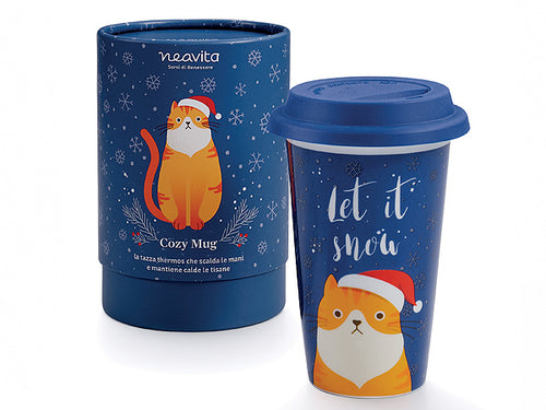 "MUG THERMOS ""WINTER FRIENDS"" GATTO - NEAVITA"