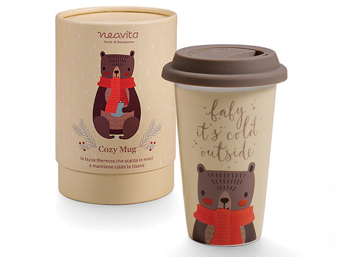 "MUG THERMOS ""WINTER FRIENDS"" ORSETTO - NEAVITA"