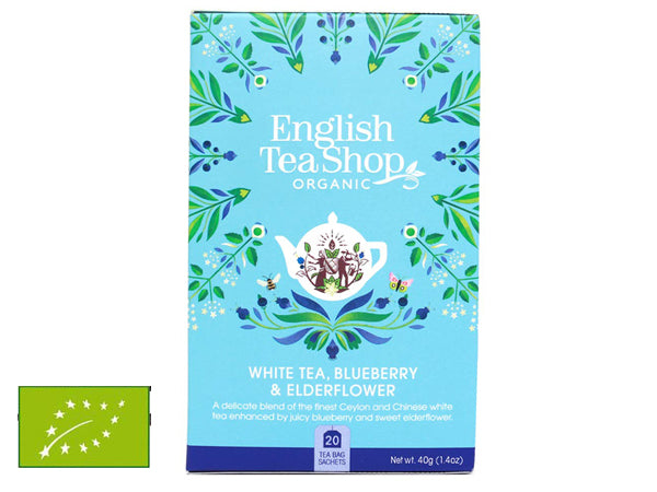 WHITE TEA, BLUEBERRY & ELDERFLOWER BIO
