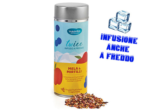 MELA E MIRTILLI - INFUSO IN LATTINA
