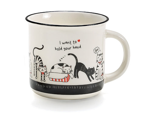 "MUG ""SWINGING CATS"" YOUR HAND- NEAVITA"