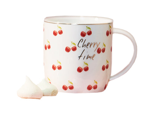 "MUG "" CHERRY TIME "" BIANCA - NEAVITA"