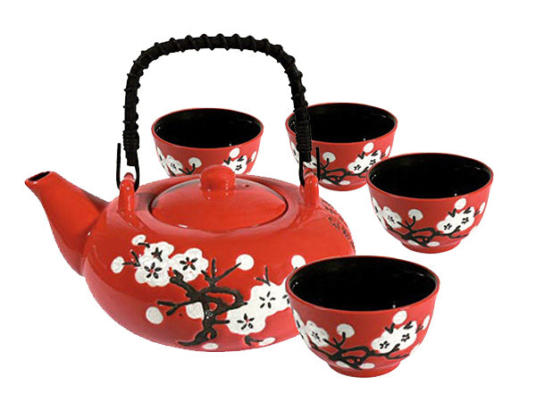 "TEA SET ""WHITE PLUM"""