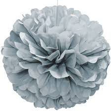 PUFF DECOR 40cm - SILVER