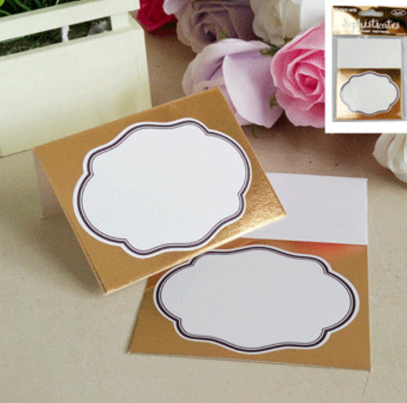 20pk Metallic Gold Place Card