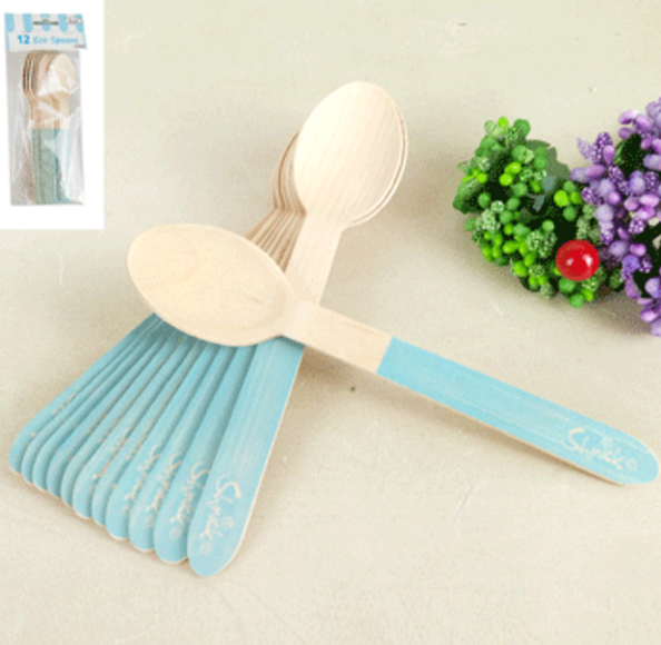 12pk Sorbet Eco Spoon - Blue