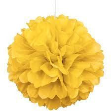 PUFF DECOR 30cm - YELLOW