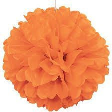 PUFF DECOR 40cm - ORANGE