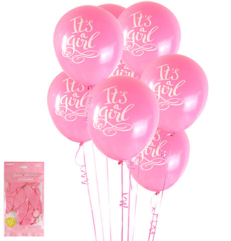 6pk Baby Shower in Pink Balloons