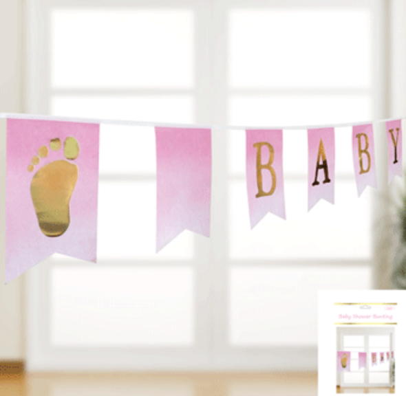 Baby Shower Bunting in Pink