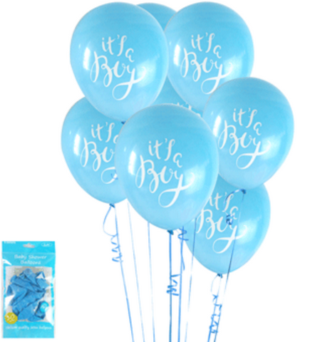 6pk Baby Shower in Blue Balloons