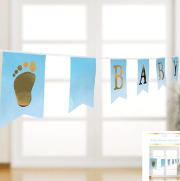 Baby Shower Bunting in Blue