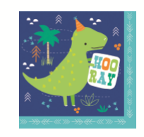 NAPKIN LUNCH 20PK DINO