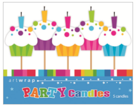 CANDLE SMALL 5PK BDAY CUPCAKES