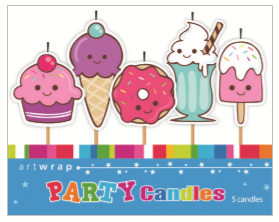 CANDLE SMALL 5PK SWEETS
