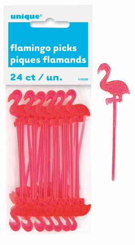 LUAU 24 FLAMINGO PICKS 3inch