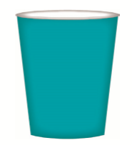 CUPS PAPER 8PK TEAL