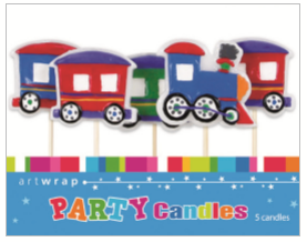 CANDLE SMALL 5PK TRAIN